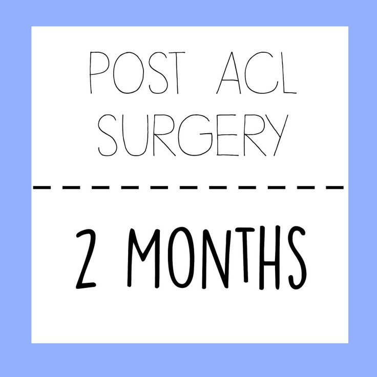 Post ACL Surgery: 2 Months! Getting better day by day.