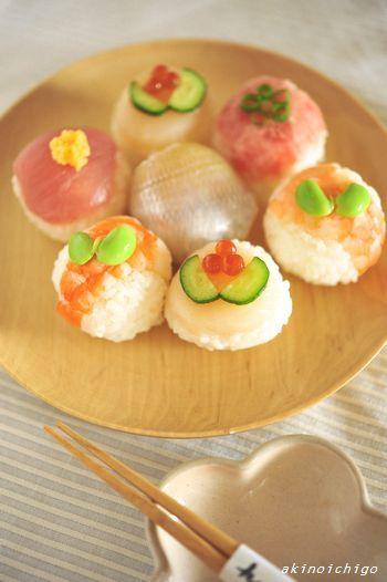 「手毬寿司」:キャラ弁連載:15分でできる簡単キャラクター弁当:レシピブログ