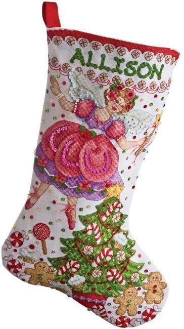 Sugar Plum Fairy Christmas Stocking - Cross Stitch Kit