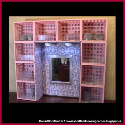 Dollar Store Crafter: Turn Dollar Tree Mini Crates Into A Desk Or Dresse…