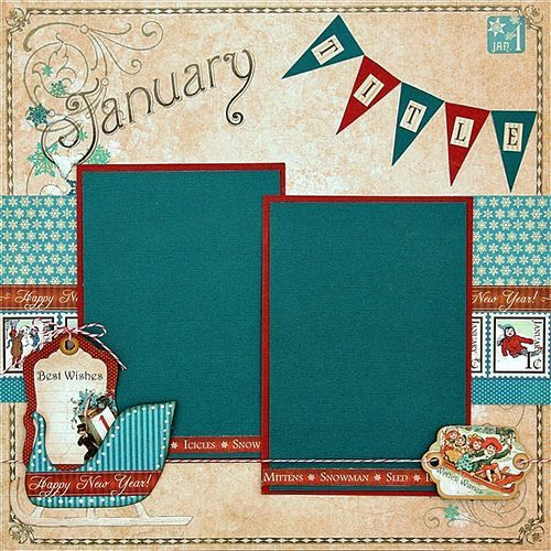 Graphic 45 Presents a Place in Time January Layout Project Sheet - Graphic 45®