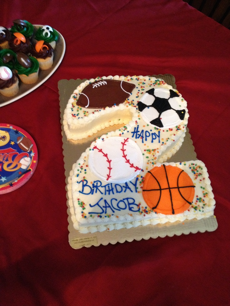 8 Best Sports Themed Birthday Images On Pinterest Anniversary