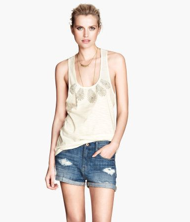 H&M Beaded Tank Top $19.95  For that crazy Florida heat!