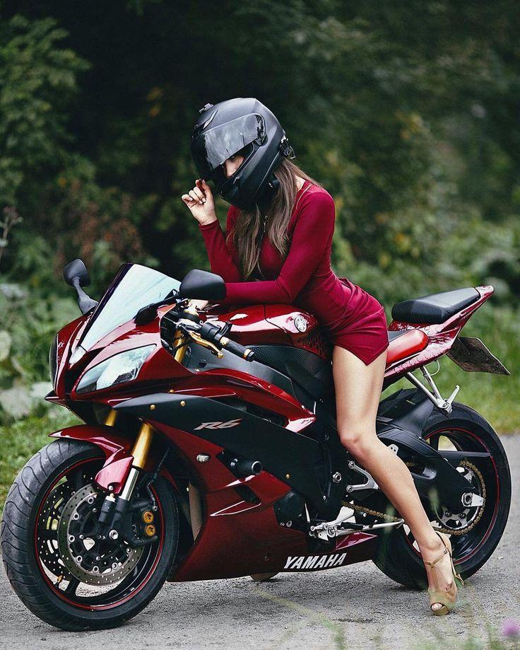 Hot girls and sport bike, naked fucker male