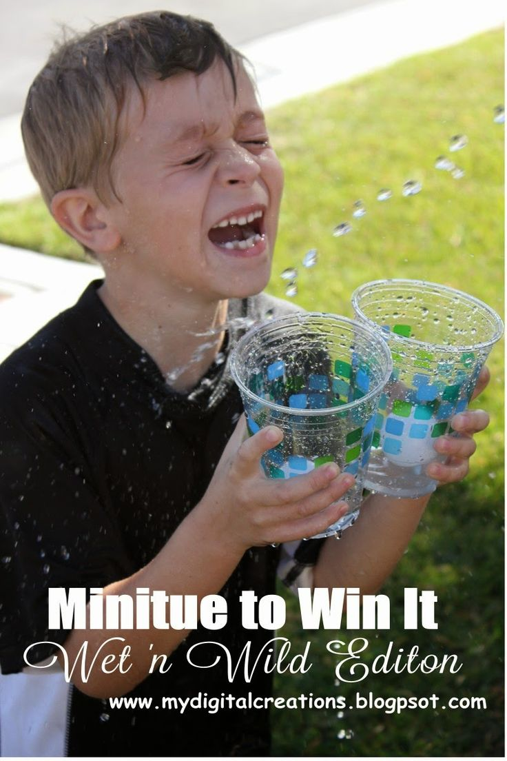 Minute To Win It Wet n Wild Edition.  What a great way to cool off in the summer heat!