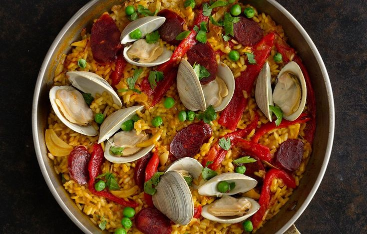 Weeknight Chorizo and Clam Paella: Got 25 minutes? You've got time to make this smoky, fragrant paella.