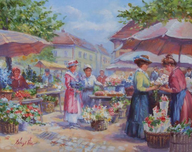 Bényi Éva: Virágpiac - Vándorfény Galéria