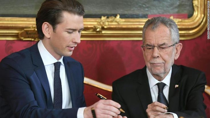Coalition government with far-right party takes power in Austria.(December 18th 2017)