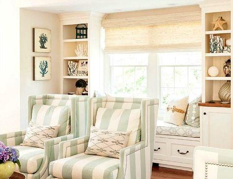 Elegant Small Cozy Coastal Living Room