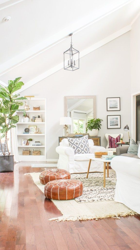 Modern Farmhouse Before And After Home Tour Designing Vibes Interior Design Diy And Lifestyle Farm House Living Room Living Room Transformation Shabby Chic Decor Living Room #rustic #chic #decor #living #room
