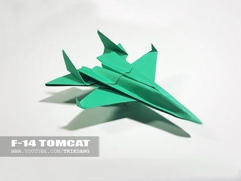 Best Paper Planes - How to make a paper airplane model for Kids | F-14 Tomcat - YouTube