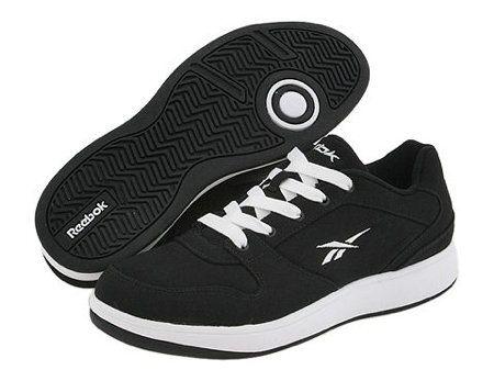 mens reebok black tennis shoes