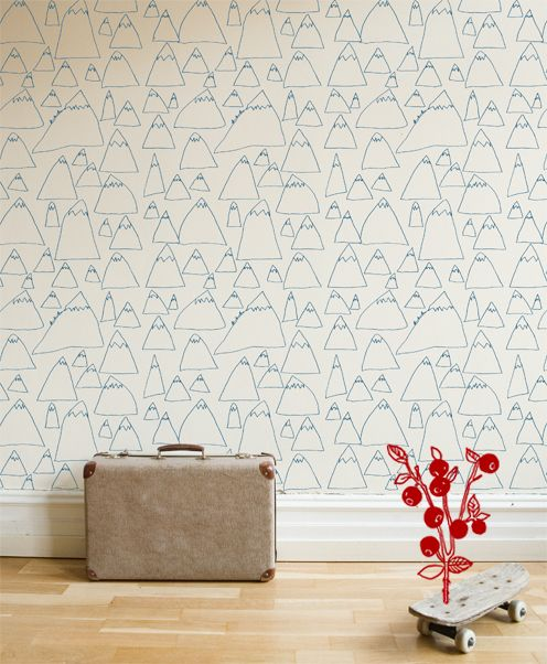 I wish I had a couple of smaller walls in my house for this wallpaper. I'm in love with it.