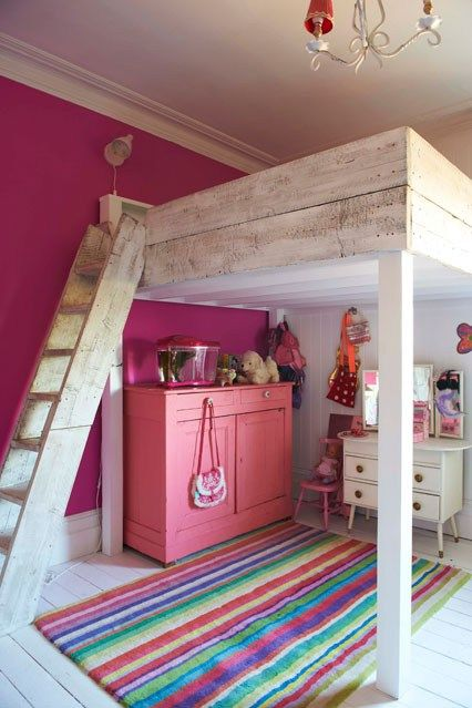 loft bed kids bedroom ideas a brilliant space saver this is made from - Bedroom Ideas For Children