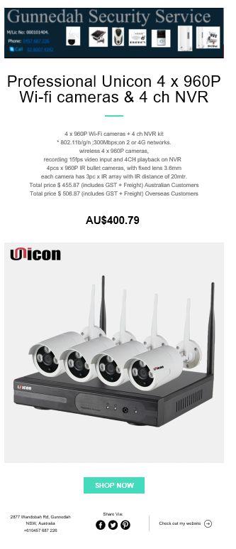 4 x 960P Wi-Fi cameras & NVR