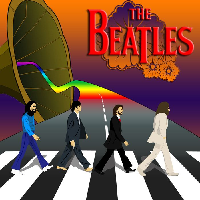 The Beatles by MastroFaccina on DeviantArt  -Abbey Road