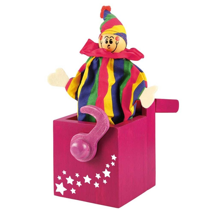 Bigjigs Wooden Jack in a Box Pink £12.99