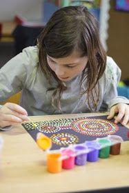 Vijfde leerjaar Sint-Michielsschool Waarloos: Dot Painting