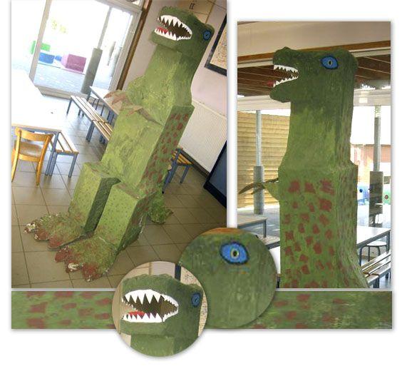 3d knutsel: dino Een grote dinosaurus