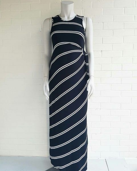 Ripe navy & white stripe maxi dress