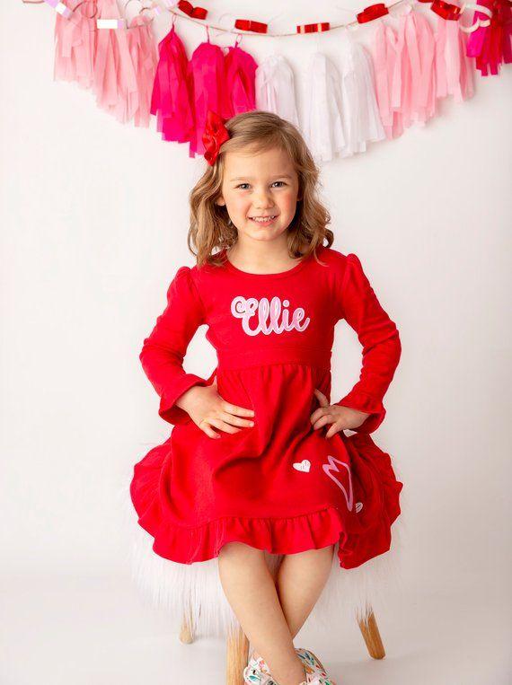 5e985f0f0422 Valentines Day Dress Heart Twirl Dresses Toddler Girls | Etsy ...