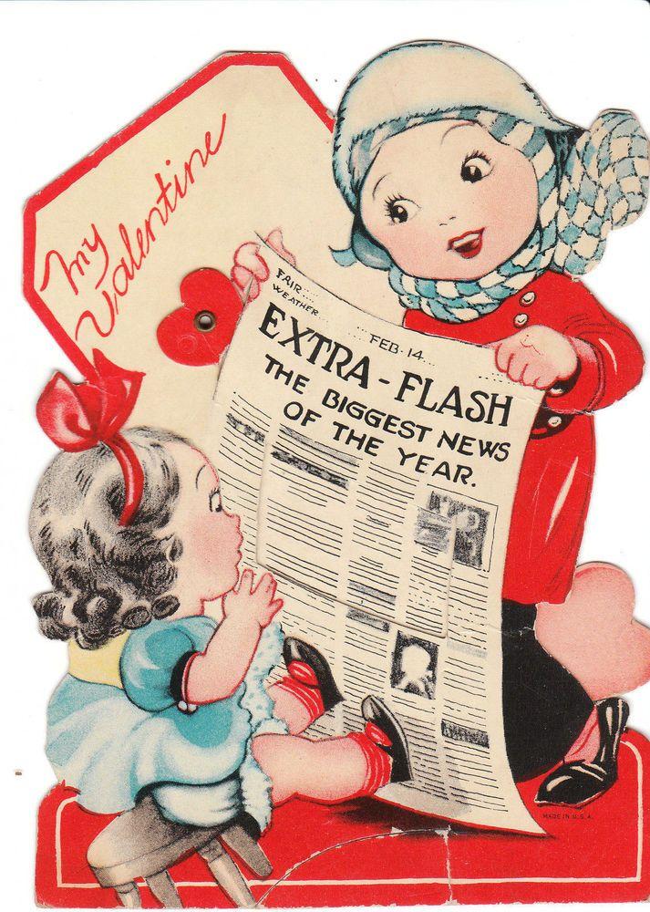 238 best images about Vintage Valentines – Huge Valentine Cards