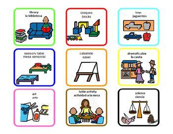 Bilingual (English/Spanish) free time choice board | AAC ...
