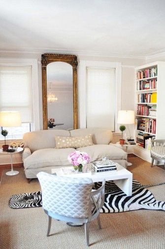 Heart This Zebra, Mirrored, White, Pink Parisian Inspired Decor. Find This  Pin And More On Formal Living Room Ideas ...