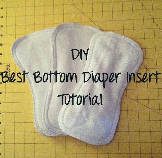 DIY Best Bottom Diaper Insert tutorial Video! Sewing, do it yourself, craft, diapers, diapering, cloth diapers, diaper insert,