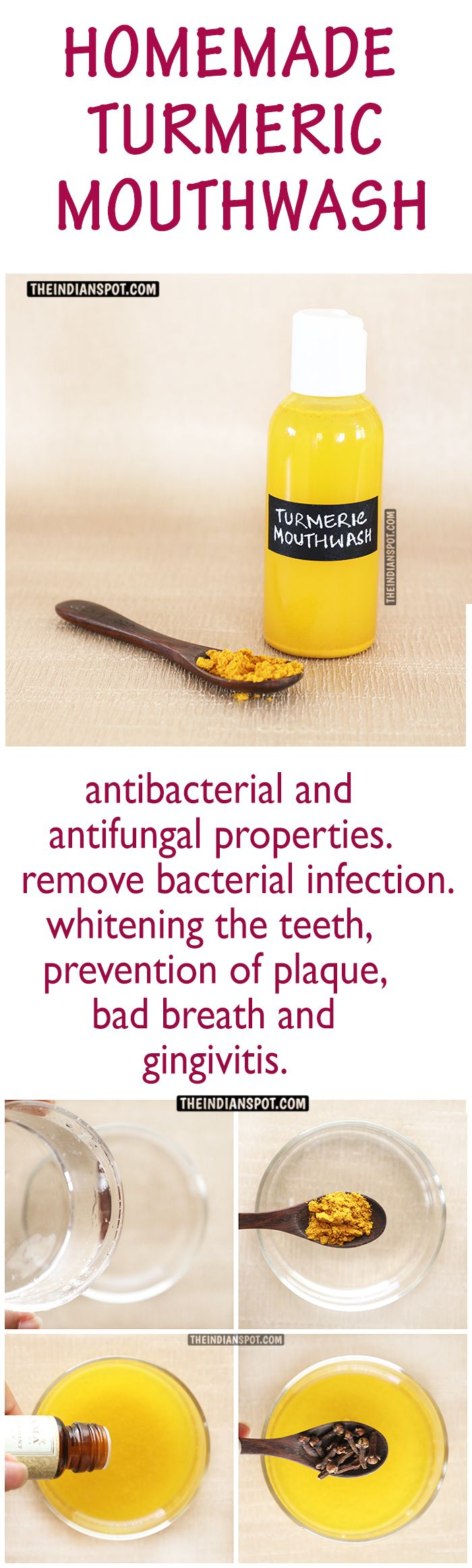 turmeric mouthwash When used in this mouthwash, salt can be very soothing this method also helps to reduce the swelling associated with gingivitis  turmeric can cure gingivitis.