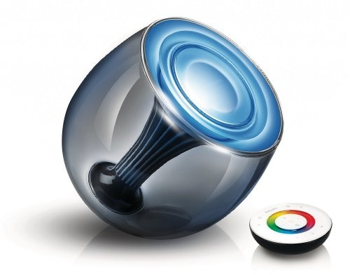 Philips LivingColors LED Gen 2 Conic - Luz LED de ambiente (mando a distancia incluido), carcasa color negro transparente