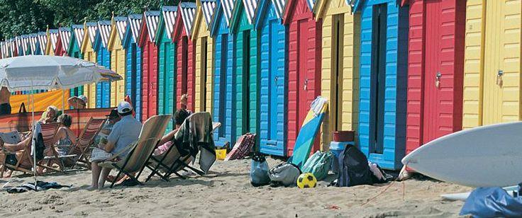 Beach Huts on Llanbedrog, Wales.