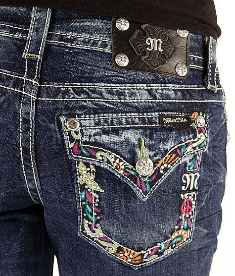 Miss Me Bling Jeans | Miss Me Embroidered Stretch Cropped Jean - Women's Crops | Buckle on ...