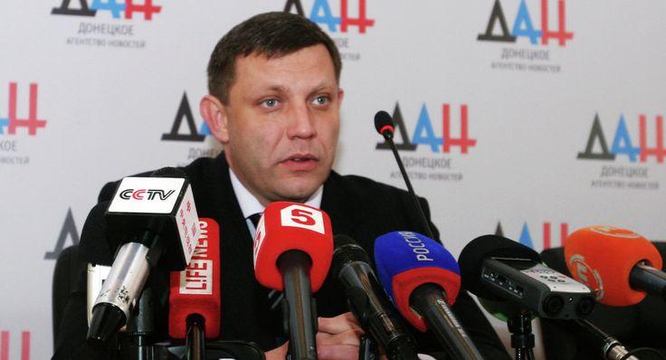 Head of the self-proclaimed Donetsk People's Republic (DPR) Alexander Zakharchenko