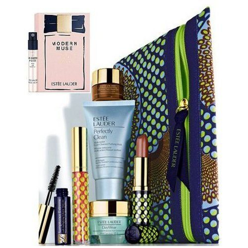 New Estee Lauder Fall 8pc Skincare Makeup Gift Set $120 Value Including Advanced Night Repair Eye, Modern Muse Fragrance and More