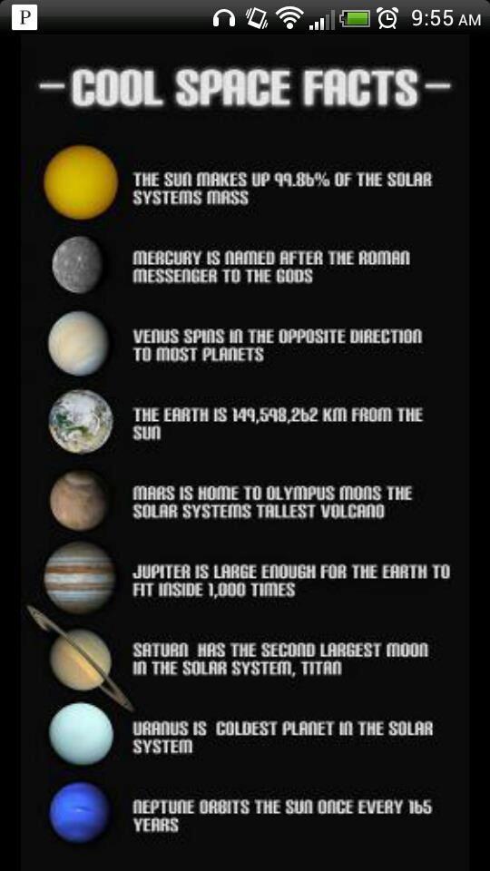 solar system data chart - photo #12