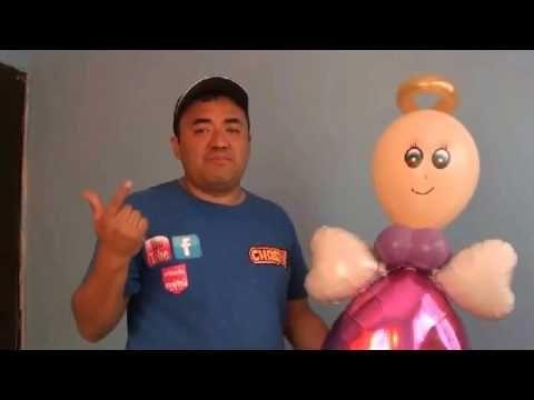 ANGELITO CON GLOBOS CHASTY - YouTube