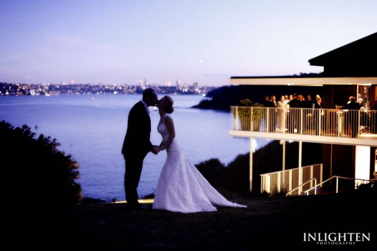 Sergeants Mess -  Stunning bride and groom silhouette portrait during sunset in Sydney.