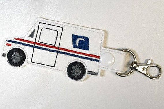 Postal Carrier Keychain Mail Delivery Truck Key Chain Gift
