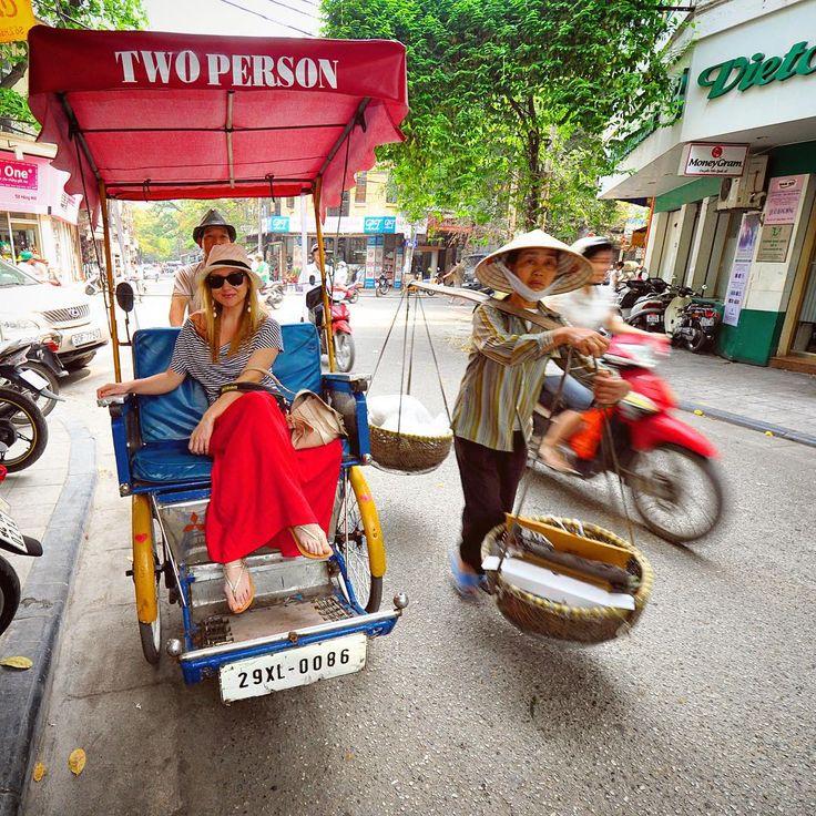 Liz...Vietnam,Hanoi .....Three symbols of Hanoi street traffic in one shot! Photo by @TravelPlusStyle. For our write-ups from Vietnam: http://www.travelplusstyle.com/?s=Vietnam