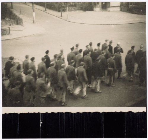 Prisoners of KZ Amersfoort, The Netherlands, 1943.