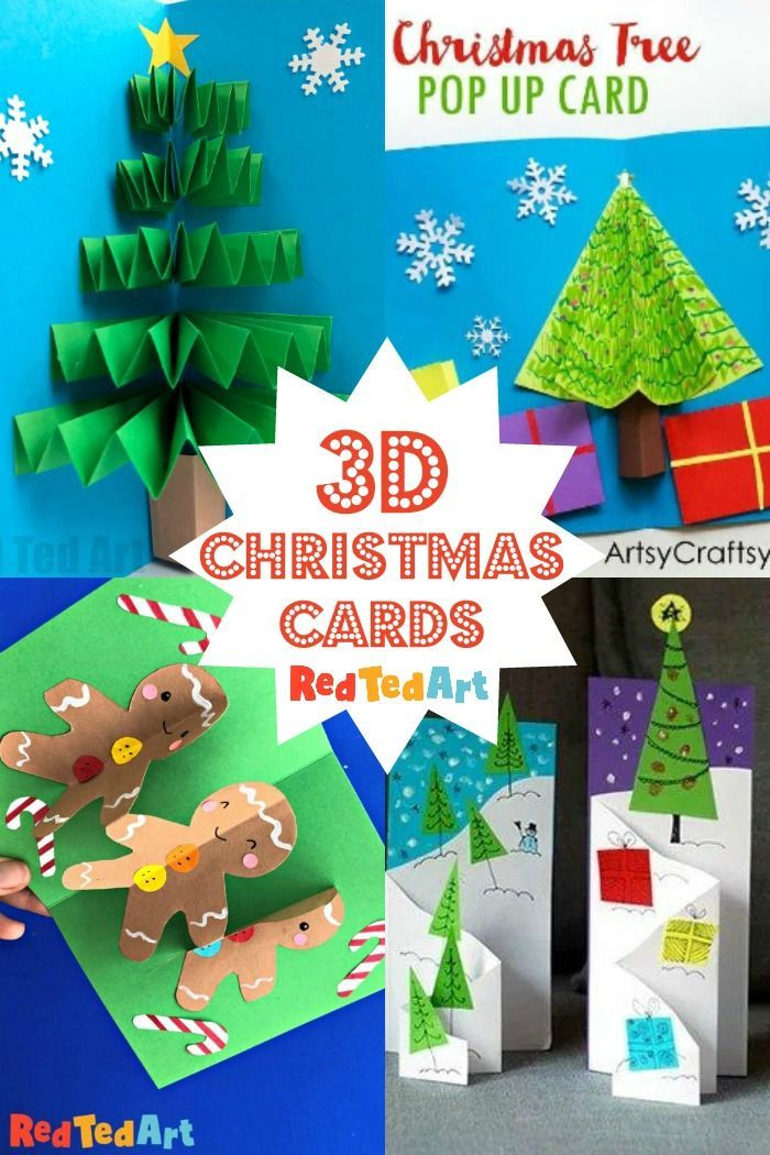Handmade 3d Christmas Cards for Kids   Red Ted Art in 2020