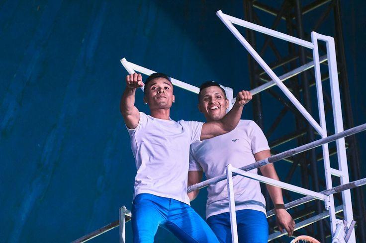 Steven Sallo and Eddy Santiago Gonzalezjr acrobats