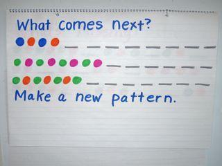 math warm ups and teaching patterns