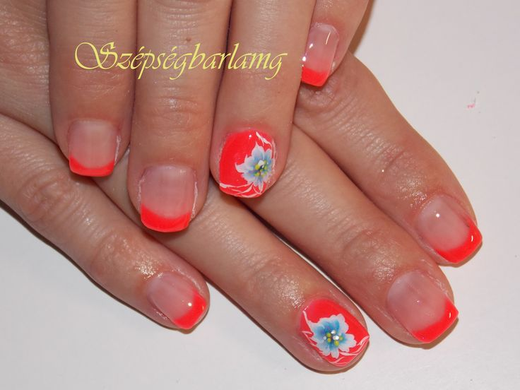 neon nyári akril virággal