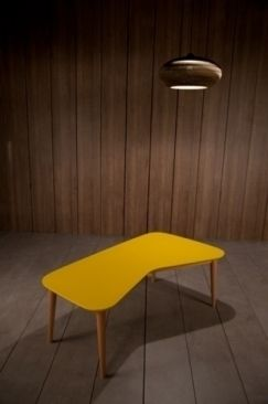 Table basse design jaune - kann