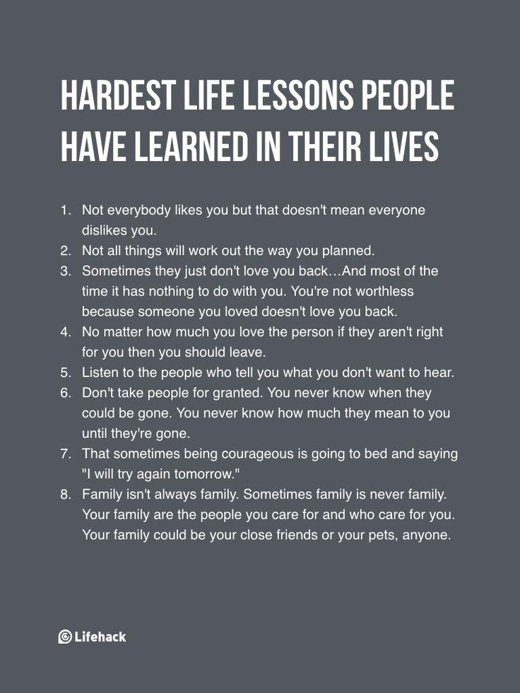 If You%u2019ve Learned These Already, You%u2019ve Matured Through Hardship