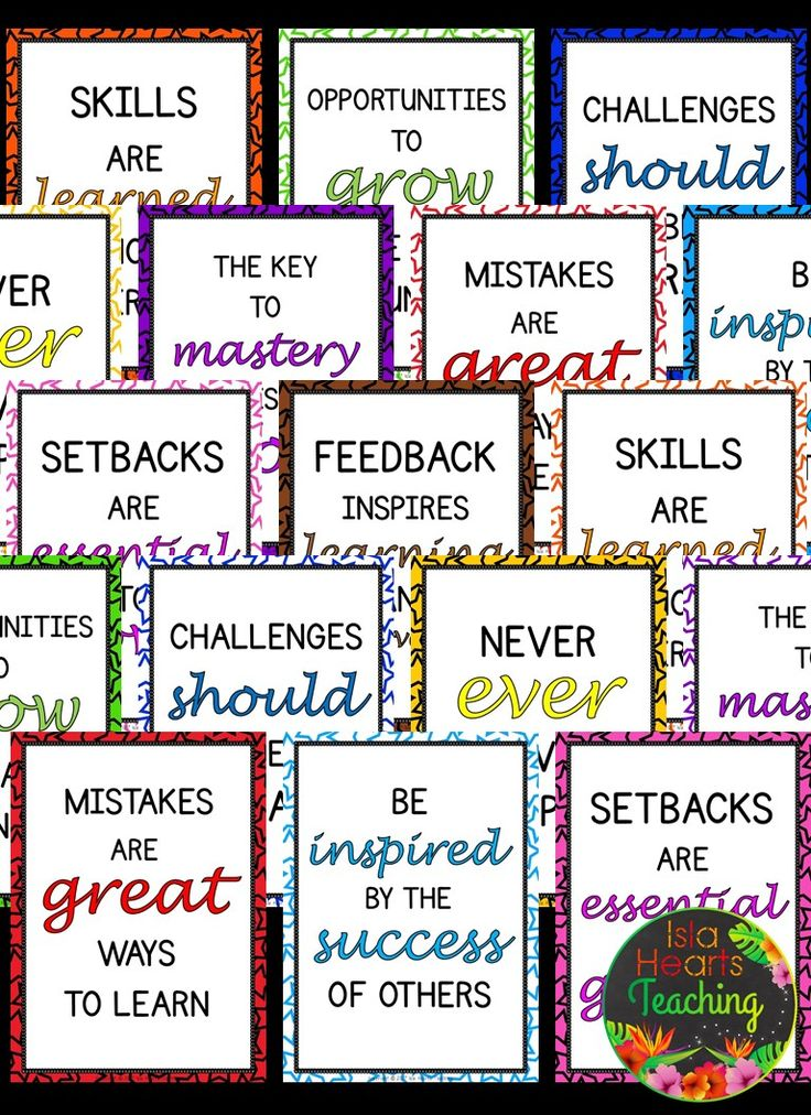 FREE Growth Mindset Posters (Classroom Décor & Bulletin Board Ideas for your elementary classroom) #islaheartsteaching
