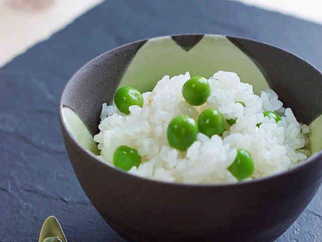 ぷっくり♪豆ご飯 (グリンピースご飯)の画像