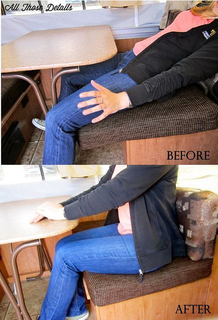 Tent Trailer Hack Securing Dinette Cushions With Images